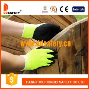 Ddsafety 2017 Fluorescence Yellow Acrylic Fiber Napping Liner Working Gloves pictures & photos
