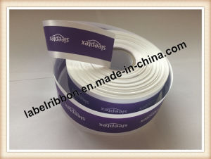 OEM Garment Trademark Label Printing Single Face/Double Face Satin Ribbon (PS1213) pictures & photos