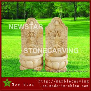 Classic Light Color Egypt Cream Beige Marble /Stone Wall Water Fountain pictures & photos