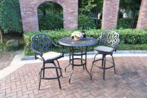 Cast Aluminum Garden Barstool Set Furniture pictures & photos