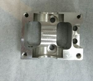 High Precision CNC Machining Aluminum Block with Silver Anodizing pictures & photos