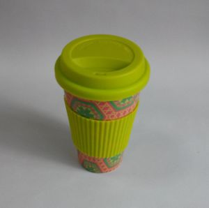 (BC-C1039) Eco Bamboo Fibre Coffee Cup with Print pictures & photos