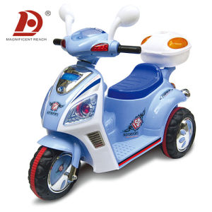 Light Blue Plastic Kids Motorbike for Kids