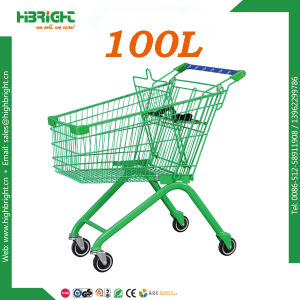 100L Powder Retail Store Coated Shopping Cart Trolley pictures & photos
