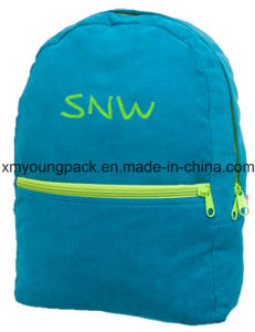 Turquoise Corduroy Children Personalized Backpack for School pictures & photos