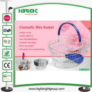 Wire Mesh Metal Shopping Basket for Cosmetic Store (HBE-B-23) pictures & photos