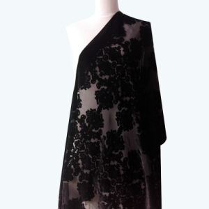 Classic Burnt-out Velvet Scarves Shawls Factory Customized pictures & photos