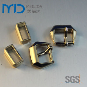 Gold Shinning Zinc Alloy Pin Buckles for Shoes Garment and Bags pictures & photos