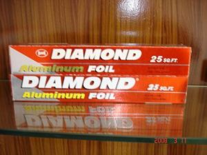 Diamond Aluminium Foil Roll pictures & photos