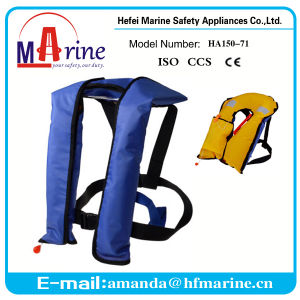 Blue Color 150n Inflatable Life Jacket Wholesale pictures & photos