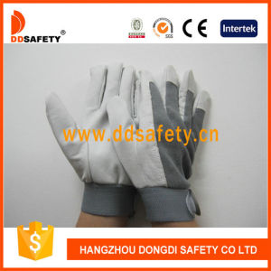 Ddsafety 2017 Pig Leather Working Glove Grey Color pictures & photos