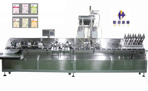 Four Head Automatic Facial Mask Sealing Machine Controlled by PLC Programming