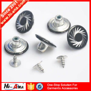 Cooperate with Brand Companies Various Colors Screw Jean Button pictures & photos