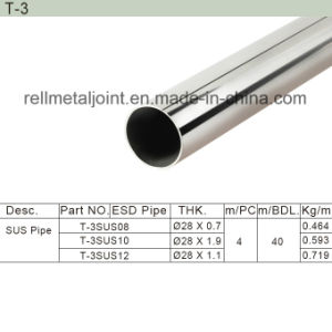 Stainless Steel Seamless / SUS Pipe (T-3) pictures & photos