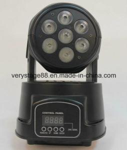 Mini 7*12W RGBWA LED Moving Head Wash Effect Lights pictures & photos