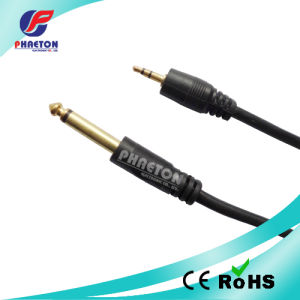 AV Cable 3.5mm Stereo Plug to 6.35mm Mono Plug pictures & photos