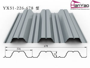 2015 New Galvanized Corrugated Steel Floor Decking Yx51-226-678 pictures & photos