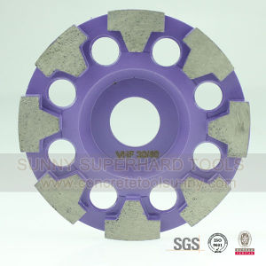 100mm New Design Diamond Grinding Cup Wheel with 8 Segments pictures & photos
