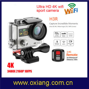 2017 Newest Dual Screen4k HD WiFi Action Camera H3r Waterproof Sports Camera + Remote Control DVR Helmet Camcorder pictures & photos