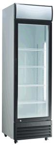 Three Door Glass Beverage Display Cooler with Wheels pictures & photos