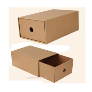 Competitive Eco-Friendly Drawer Type Kraft Paper Shoes Boxes pictures & photos