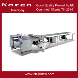 Hot Melt Glue Paper Pasting Machine with 6m Length Table pictures & photos