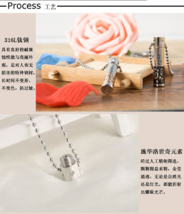 Fashion Jewellery Stainless Steel Jewelry Necklace Perfume Bottle Pendant (hdx1035) pictures & photos