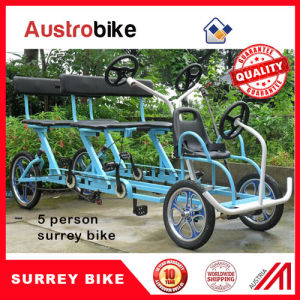 Tandem Bicycle Four Wheels Bicycle for Rental Bikes Beach Side Surrey Bike pictures & photos