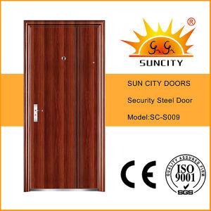 Flush Single Designs Security Steel Iron Door for Exterior (SC-S009) pictures & photos