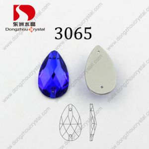 Hot Sale Cheapest Drop Aquamarine Sew on Stone for Wedding Dress pictures & photos