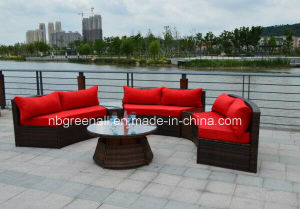 Semi-Round Rattan Outdoor Sectional Garden Wicker Furniture pictures & photos