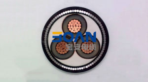 Cu/XLPE/Cts/PVC/Swa/PVC, Power Cable, 6.35/11 Kv, 3/C (BS 6622) pictures & photos