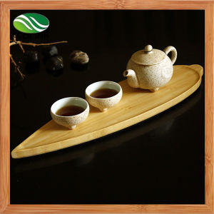 Leaf-Shaped Bamboo Tray Sushi Plate pictures & photos