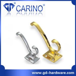Home Bedroom Furniture Zinc Double Design Coat Hook Series (GDC5027) pictures & photos