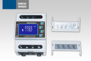 Three Phase Multifunction DIN Rail Solar Mbus Watt Hour Power Meter Sdm630-Mbus pictures & photos