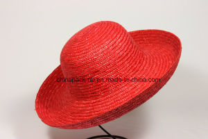 Red Wheat-Straw Bowler Hats for Women (CPA_13031) pictures & photos
