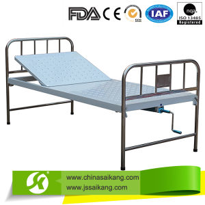 Perforated Platform Manual Medical Stable Bed Single Crank pictures & photos