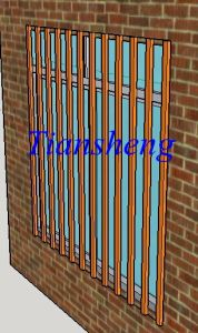 Customized Aluminum Sliding Window with Security Bar for Africa Market pictures & photos