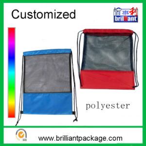 Drawstring Backpack Polyester Drawstring Mesh Backpack in Balls or Shoe pictures & photos