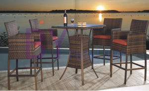 by-401 Cheap Bar Furniture 4+1 Rattan Bar Stool pictures & photos