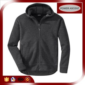 2015 Mens Grey Softshell Wool Fleece Hoodie for Winter pictures & photos