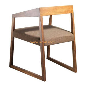 (SD-1005) Nordic Style Restaurant Wooden Dining Chair with Fabric Seat pictures & photos