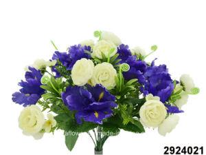 Artificial/Plastic/Silk Flower Ranunculus/Iris Mixed Bush (2924021) pictures & photos