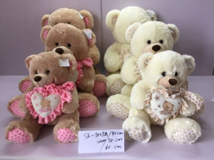 Plush Toys Bear with Heart and Bow