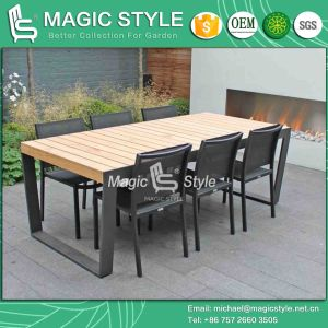 Textile Dining Set Dining Chair Stackable Chair Sling Dining Chair Modern Dining Set (Magic Style) pictures & photos