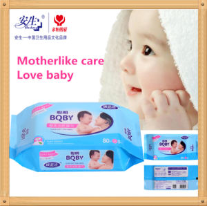 80 PCS Economic Plain Non-Woven Baby Wet Wipe pictures & photos