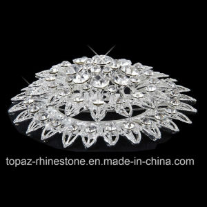 Silver Plated Rhinestone Crystal Jewelry Pins Brooch for Party (TM-034) pictures & photos