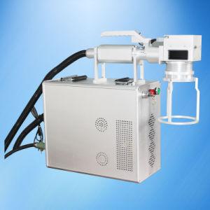 Handheld Fiber Laser Marking Machine on Aluminum pictures & photos