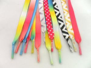Custom 72 Bright Heat Transfer Shoelaces pictures & photos