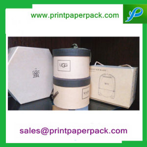 Custom Design Luxury Hat Round Tube Cardboard Paper Flowers Gift Box pictures & photos